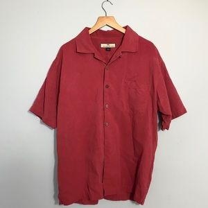 Tommy Bahama 100% Silk Embroidered Camp Shirt
